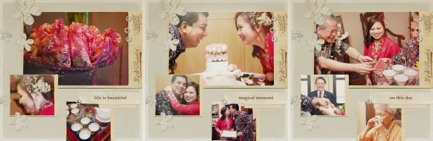 Peranakan wedding collage
